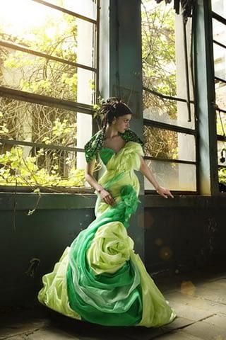 moda kadın yeşil doğa çekim fotoğraf fotoğrafçı reklam fashion photoshop retouch gelin damat