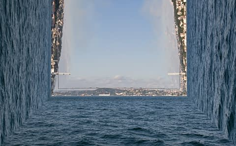 dört köşe iki kıta istanbul boğaz deniz şehir sıkışık kalabalık boş kutu fotoğrafçı prodüksiyon tasarım proje kretif creative çekim fotoğraf fotoğrafçı reklam photoshop retouch studyo