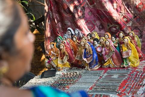 kukla fısılda pazar tezgah hindistan