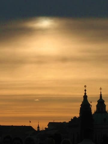 vanilya turuncu katedral siluet manzara huzur