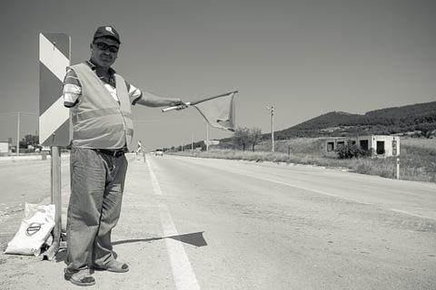 işçi sinyalizasyon engelli kol trafik