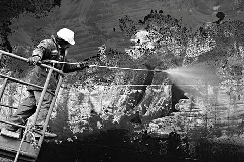 tersane resim soyut raspa işçi siyah beyaz b&w belgesel documentary
