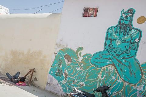 meditasyon dinlenme uyku hindistan duvar resim uyum