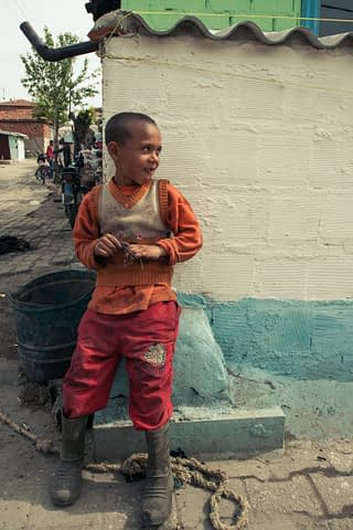 roman köşe çocuk çizme portre